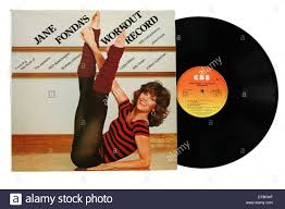 Jane Fonda Workout Record From The 1970s Stock Photo