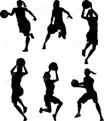 バスケット ボールの女性の女性のシルエット