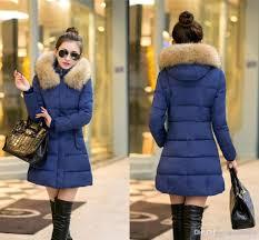 2016 faux fur hood autumn winter jacket women