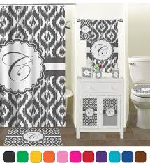 grey patterned ikat shower curtain for bathroom decoration ideas