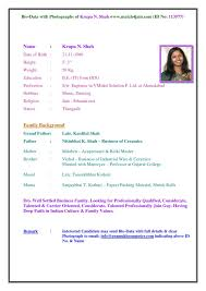 Awesome Marriage Resume Format Word File 85 In Resume Examples with Marriage  Resume Format Word File