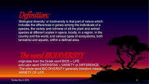 Species Diversity Definition What Is The Simplest Definition Of Biodiversity