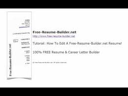 free resume builder com how to edit your resume using free resume builder net youtube