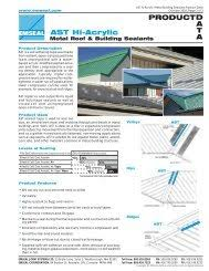 Horizontal Colorseal Tech Data Pdf Emseal