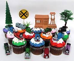 <b>THOMAS</b> THE <b>TRAIN</b> 12 Piece Birthday <b>Cupcake</b> Topper <b>Set</b>