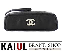 leather black black here mark a25466 s rank with the chanel porch pen case accessory case