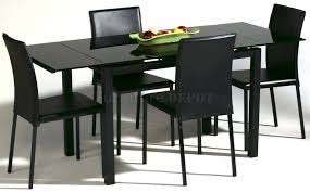 dining room simple and minimalist black dining room sets with sleek dining table for modern