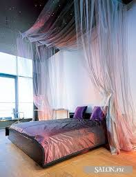 Shimmer canopy bed & star-lit ceiling.