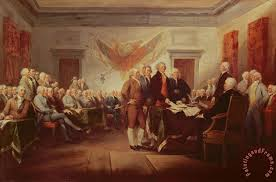 signing the declaration of independence painting john trumbull signing the declaration of independence art print