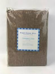pine cone hill chambray linen king duvet cover in sable new