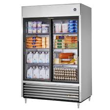 glass door refrigerator 2 slide door 47 cu ft s