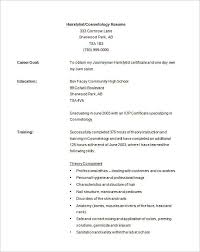 Cosmetology Resume Samples Simple Cosmetologist Resume Examples Cosmetology Resume Examples On Resume