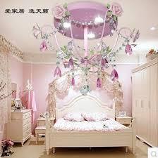 lighting for girls room. pink princess korean pastoral flowers sitting room light children bedroom girl rose led crystal lighting for girls r