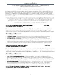 Project Manager Construction Resumes Resume Examples For Project Managers In Construction Manager Sample