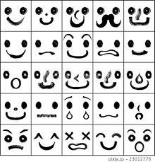 顔 顔ロゴ イラストのイラスト素材 23012775 Pixta