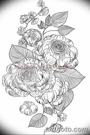 черно белый эскиз тату рисункок пионы 11032019 053 Tattoo
