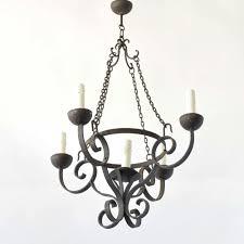 rustic iron chandelier vintage belgian chandelier with 4 forged and curled arms rustic iron chandelier l34