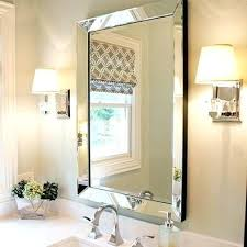 frameless beveled mirror. Beveled Mirror Frame Powder Room Bevelled Marble Sconces Frameless Tiles Home Depot