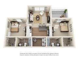 2 bedroom 2 bathroom 2 bed apartment