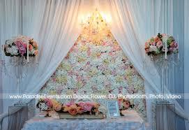 chandelier al vancouver flower wall backdrop pipe and d wedding flower table linen decor flower al