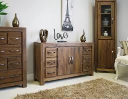 Walnut Furniture Living Room Linea Solid Walnut Home Furniture Large Six Drawer Living Dining