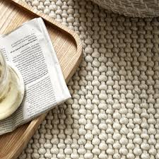 ivory hampton looped wool rug by the white company