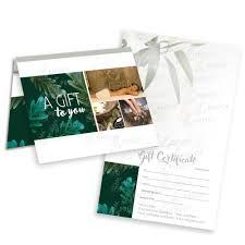Customized Gift Certificates Gift Certificate Gc Smgc20 Large