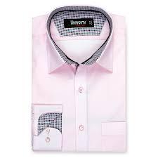 Light Pink Button Up Dress Light Pink Plain Designer Dress Shirt
