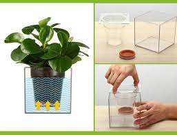 1Piece Clear Tube Plant Pot / Flower Pot Self Watering Planter Fish Tank  Creative Symbiotic System-in Flower Pots & Planters from Home & Garden on  ...