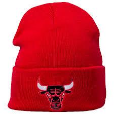 Chicago Bulls Mitchell & Ness Team Logo Cuff Wintermütze - Stadionshop