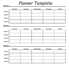 Monthly Workout Schedule Template Daily Workout Planner Template Latest Calendar