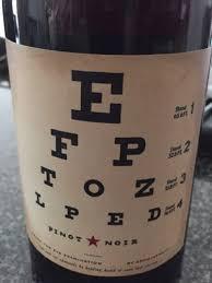 Joel Gott Eye Chart Pinot Noir