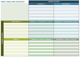 strategic planning templates smartsheet swot analysis strategy excel template