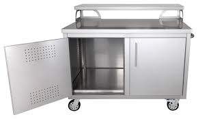 portable stainless steel outdoor kitchen cabinet bar contemporary outdoor pub and bistro sets by hunter home comfort
