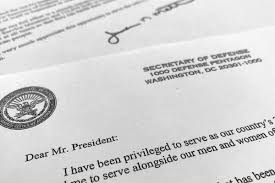 Here Is Us Defence Secretary James Mattis Resignation