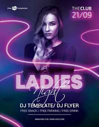 Free Party Flyer Templates Ladies Night Free Party Flyer Template Freebie Freepsdflyer