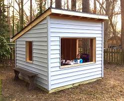play house plans.  Plans Simple Free Playhouse Plan With Shed Roof And 8x8 In Size Inside Play House Plans U
