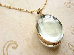 oval beveled glass locket necklace