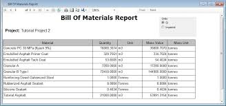 What Is A Bill Of Materials Report Table Bill Of Materials