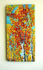acrylic tree painting luxury autumn trees original acrylic painting gallery by vesnasart