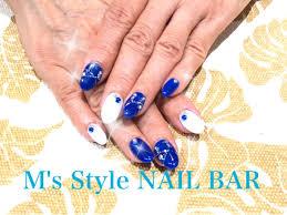 定額コース アビスブルーホワイトで爽やかにっms Style Nail Bar