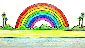 Rainbow Chart Work How To Draw Rainbow Step By Step