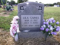 Lila Gaines (1922-2000) - Find A Grave Memorial