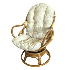 rattan swivel rocker chair stylish home act cushion for cushions