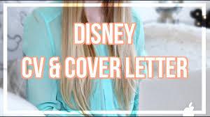 Cover Letter To Disney Cv Cover Letter Disneys Cultural Representative Program 2018