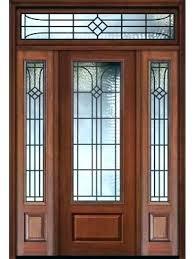 glass front doors glass front door with sidelights front doors with sidelights 1 panel 3 4