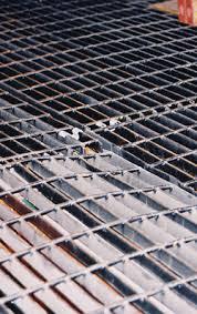 damaged bar grating floor bar grate mezzanine floor