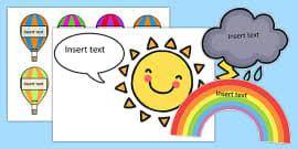 Sunshine And Cloud Class Behaviour Chart Golden Time