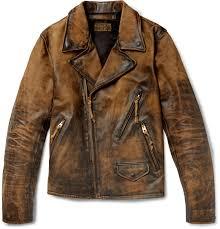 rrldistressed leather biker jacket