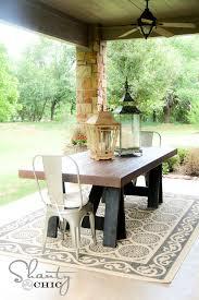 white build patio table